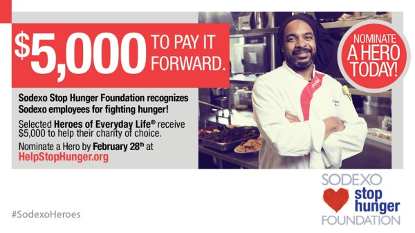 Sodexo Stop Hunger Foundation Opens Nomination Period for 2020 Heroes of Everyday Life®